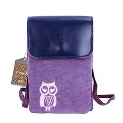 Cute fuzz Fabric with pu leather cover cellphone shoulder po