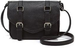 Scarleton Decorative Front Belt Crossbody Bag H172501 - Blac