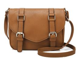 Scarleton Decorative Front Belt Crossbody Bag H172504 Brown