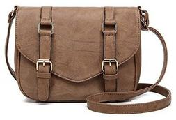 Scarleton Decorative Front Belt Crossbody Bag H172508 - Beig