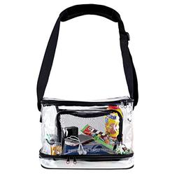 Deluxe Clear Lunch Bag |Extra Large Tote With Adjustable Str