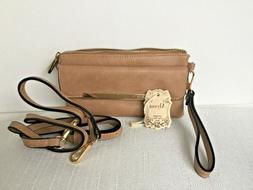 Designer Alyssa Vegan Leather Tan Crossbody Bag Women Purse