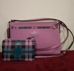 Coach East/West Crossbody Bag with Pop Up Pouch Lilac 22252