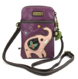 Chala Elephant Cell Phone Crossbody Bag Small Convertible Pu