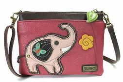 Chala Elephant Mini Crossbody Dark Pink Bag Small Convertibl