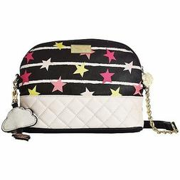 Betsey Johnson Emily Midnight Stars Quilted Crossbody Bag Cl