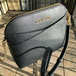 Michael Kors Emmy Medium Cindy Dome Crossbody Black