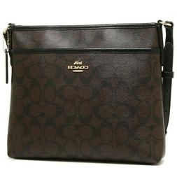 Coach F29210 Signature Coated Canvas Crossbody File Bag Brow