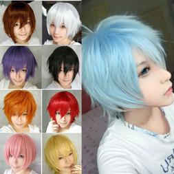 Fashion Cosplay Anime Wig Short Haircut Full Wigs Heat Resis