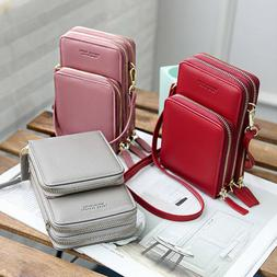 Fashion Crossbody Cell Phone Shoulder Bag Pouch Case PU Hand
