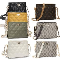 fashion quilted small crossbody chain bag women