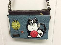 NEW CHALA FAT CAT KITTEN MINI CROSSBODY CELL PHONE PURSE ADJ