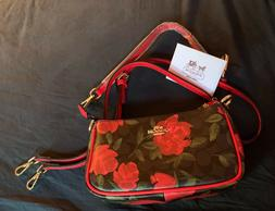 Floral Coach crossbody bag 100% authentic