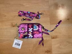 VERA BRADLEY Flutterby All In One Crossbody Bag Wristlet Wal