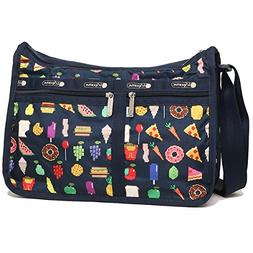 LeSportsac Foodmojis Deluxe Everyday Crossbody Handbag + Mat