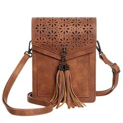 MINICAT Fringe Thicher Pocket Cell Phone Purse Wallet Small