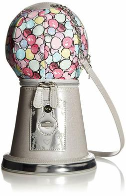 Betsey Johnson GOTTA GETTA GUMBALL Machine Crossbody Bag Sil