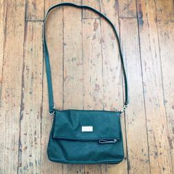 NINE WEST GREEN FAUX LEATHER CHAIN CROSSBODY FOLD OVER PURSE