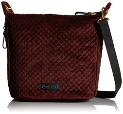 Vera Bradley Halo Carson Mini Crossbody-Velvet, Chocolate Ra