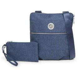 Baggallini Hanover Crossbody with Wristlet - Steel Blue