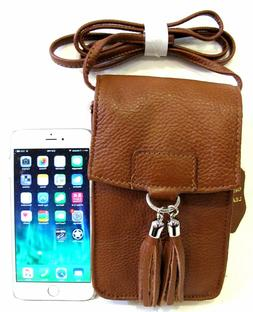 Heavy Duty Leather Cross Body Bag for Smart Phone + All Esse