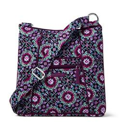 hipster crossbody bag in lilac medallion