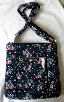 Vera Bradley Holiday Owls crossbody Iconic Large Hipster bag
