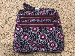 Vera Bradley Iconic Triple Zip Hipster NWT Lilac Medallion C