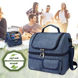Janolia Insulated Lunch Bag, Extra Large Hard liner Meal Pre