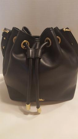 Brahmin Isabelle Black Charleston Drawstring Crossbody Bag P