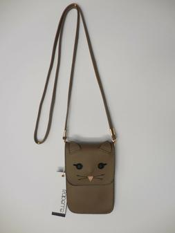 Isabelle Crossbody Small Pouch / Bag Cat Theme / Brown