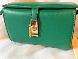 Isabelle Handbag Vegan Green Leather Crossbody New Purse Bag