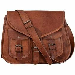 KPL 14 Inch Leather Purse Women Shoulder Bag Crossbody Satch