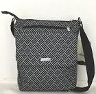 Baggallini For Lifes Journey Black Basket Weave Town Crossbo