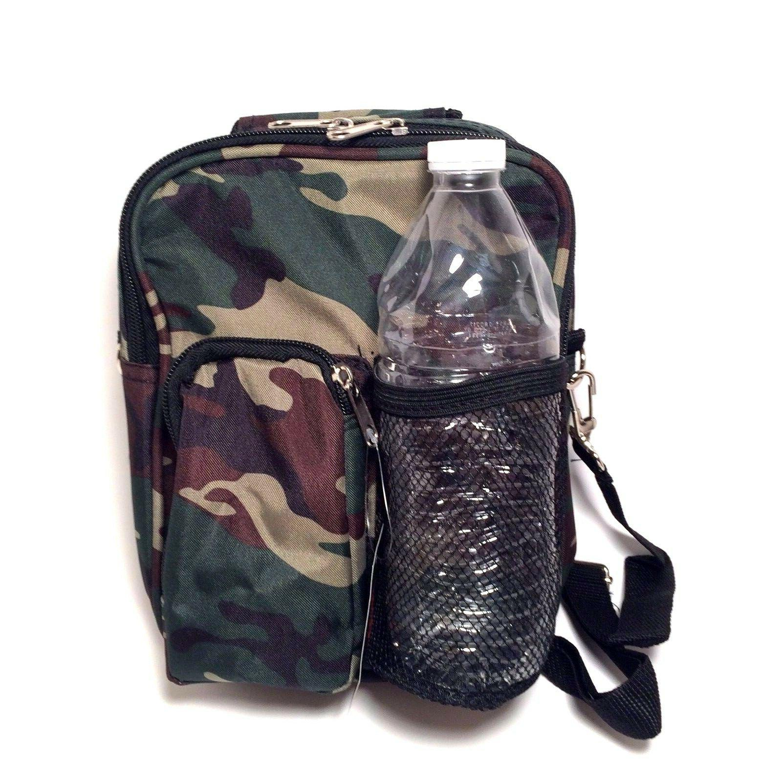 Camo Print Cross Body Daypack  Purse Lunch & Accessory Bag