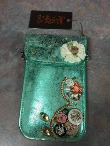 Cell phone case/evening bag decorative with bling crossbody/