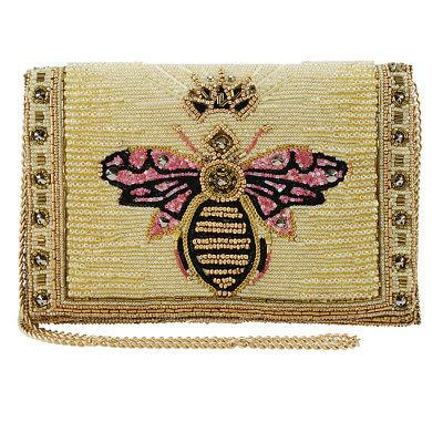 Mary Frances Buzzed Beaded Embroidered Queen Bee Crossbody C