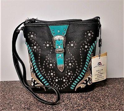 Montana West Concealed Carry Crossbody Bag Western Cowgirl B