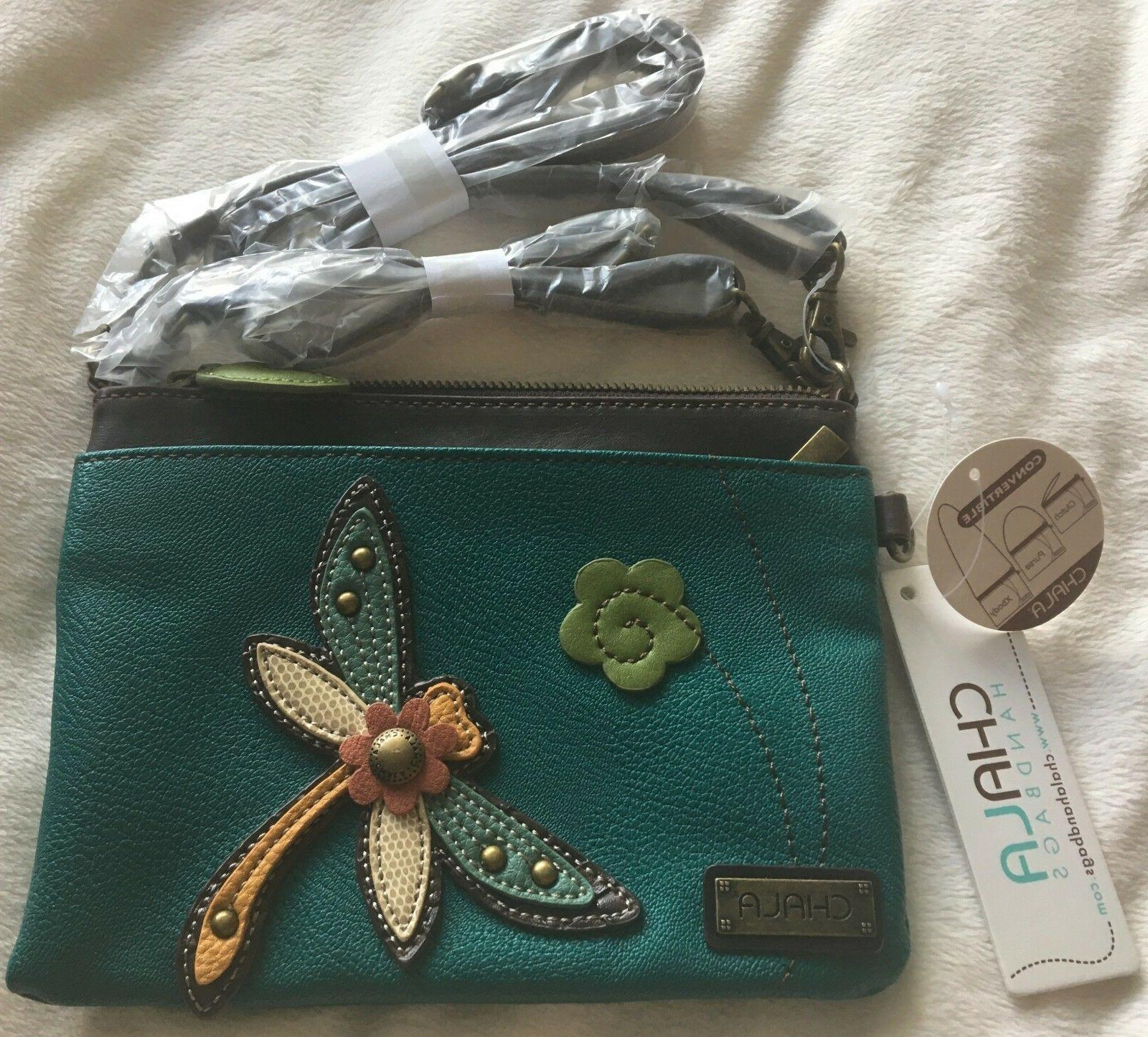 NWT CHALA DRAGONFLY TURQUOISE MINI CROSSBODY BAG PURSE CONVE