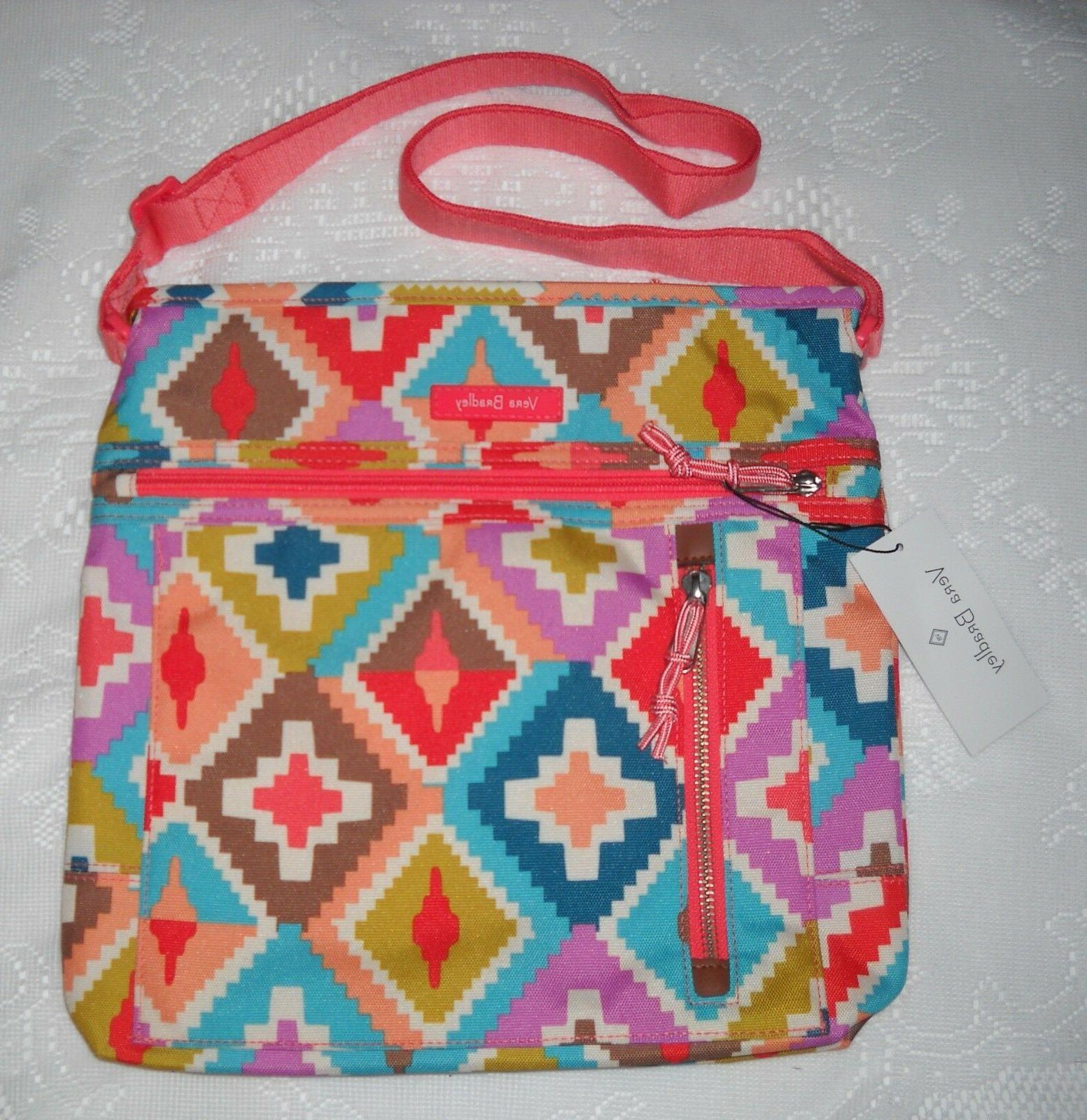 NWT VERA BRADLEY TRAVEL READY CROSSBODY HACIENDA DIAMONDS BA