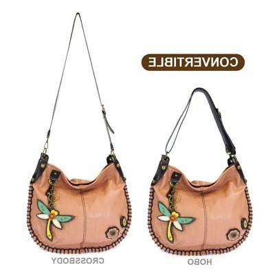 New Chala Hobo Crossbody Large Tote Bag DRAGONFLY Pleather P
