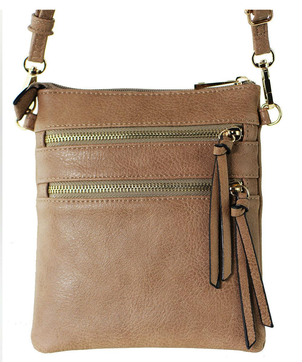 New Functional Multi Pocket Crossbody Bag 80808A,STONE,WITH