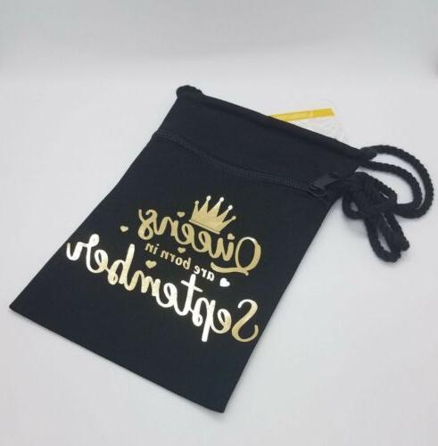 Queens Born In September, Canvas Purse On A String Crossbody
