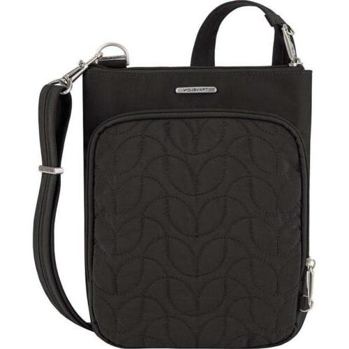 Travelon Anti-Theft Quilted Small North/South Crossbody Bag