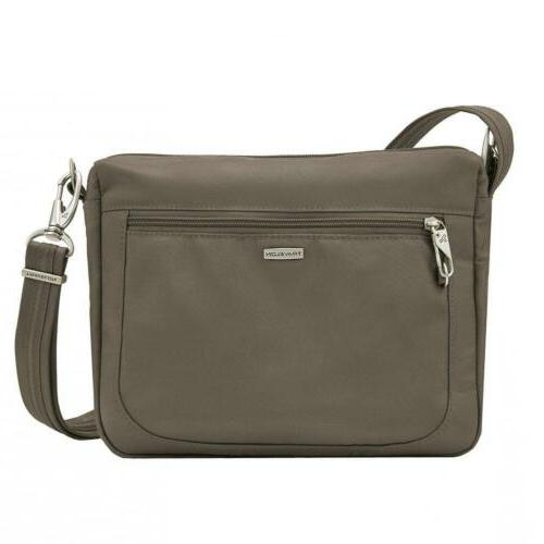 Travelon Anti-theft Classic Small E/W Cross Body Bag, Nutmeg