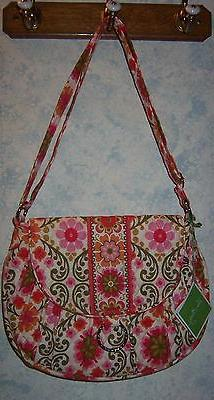 Vera Bradley Folklore Saddle Up Crossbody Shoulder Purse Bag
