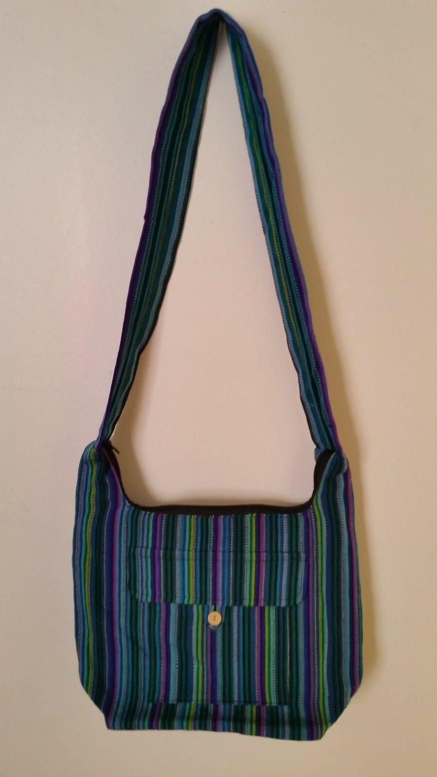 Women Cross body style fabric Bag 11*13*4 inch and 18 inch s