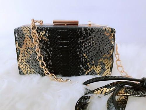 ISABELLE Snake-Like Shoulder Crossbody Purse NEW