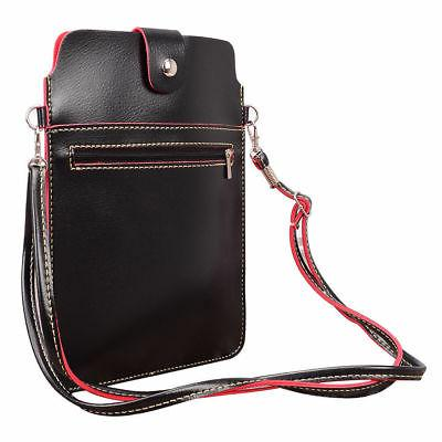 Black Universal 7~8inch Tablet Cross-body Bag Pouch Case For