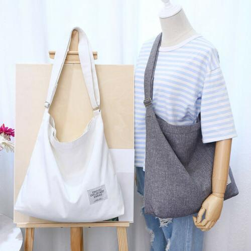 Canvas Crossbody Bag Tote Messenger with Zipper Work
